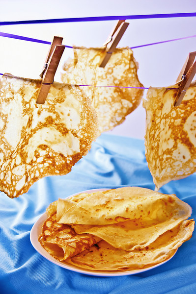 Simple and versatile, delicate crepes can imitate nature blossoms petals